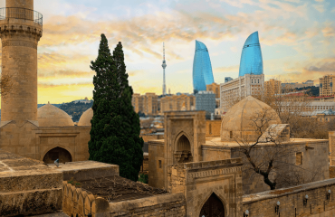 View of Baku from the Old Tity